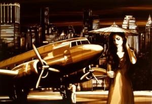 Tape art by Max Zorn Night Flight to Bangkok