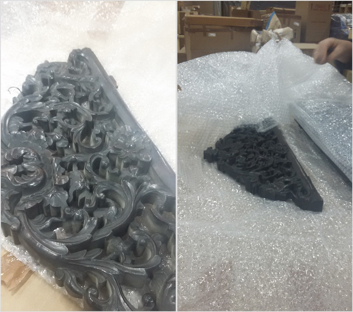 How to ship antique Chinese screen