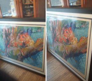 Artwork Framed with Glass