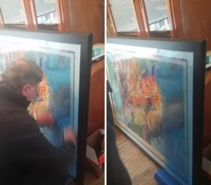 Artwork Framed with Glass