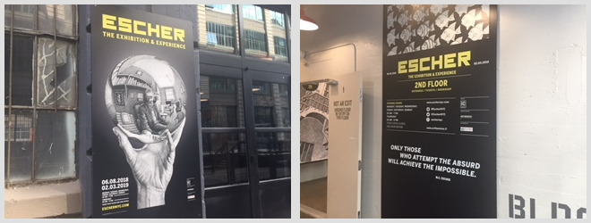 Independent shippers; Escher exhibition