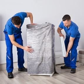 Packing furniture for shipping