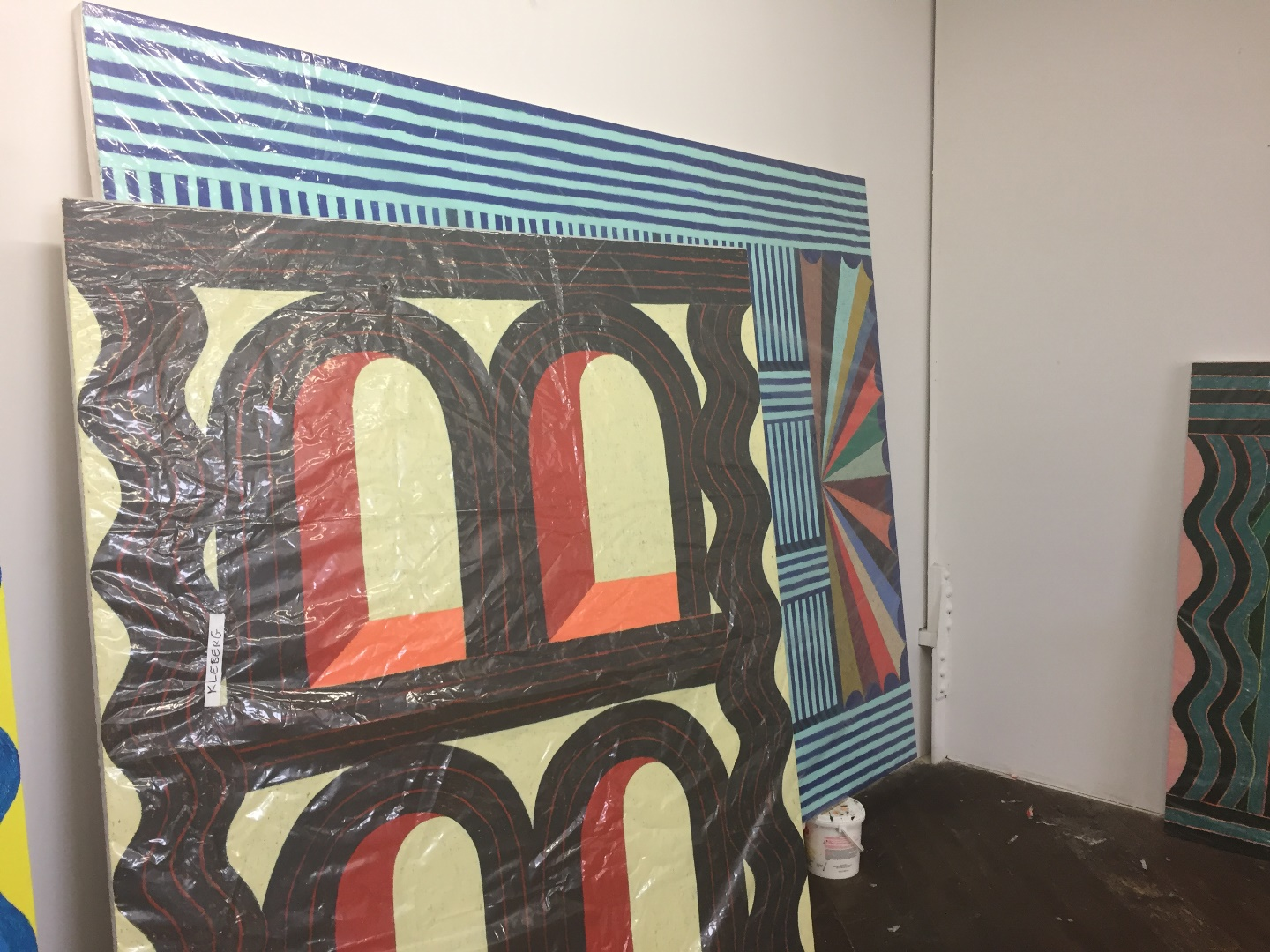 Shipping large paintings; Matt Kleberg
