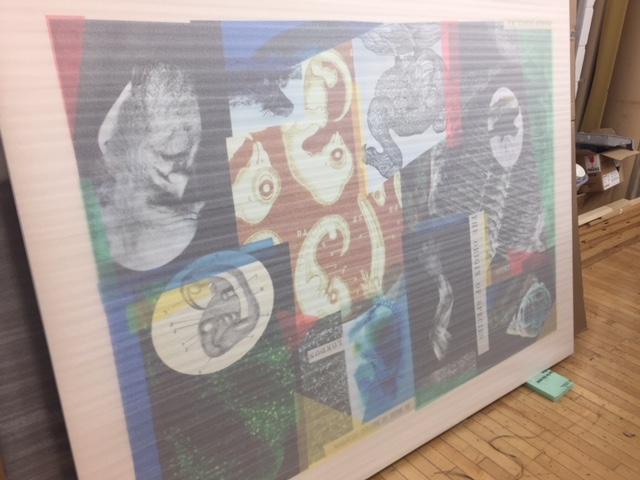 Moving wall art