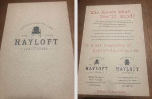 White glove furniture delivery; Hayloft Auctions