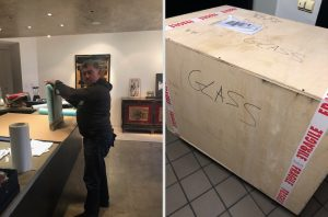 Art pick-up, pack, and ship service in New York