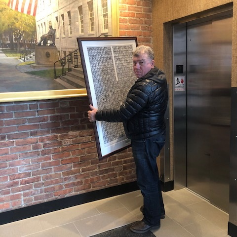 How to ship artwork from Boston to NYC; The Harvard Club of Boston
