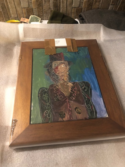 Shipping a painting by George Condo