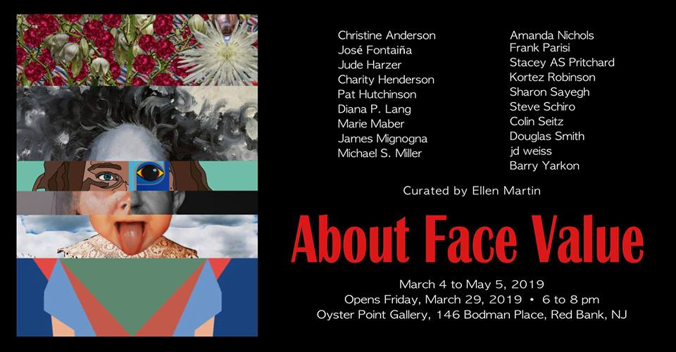 """About Face Value"" art exhibition at the Oyster Point Gallery"