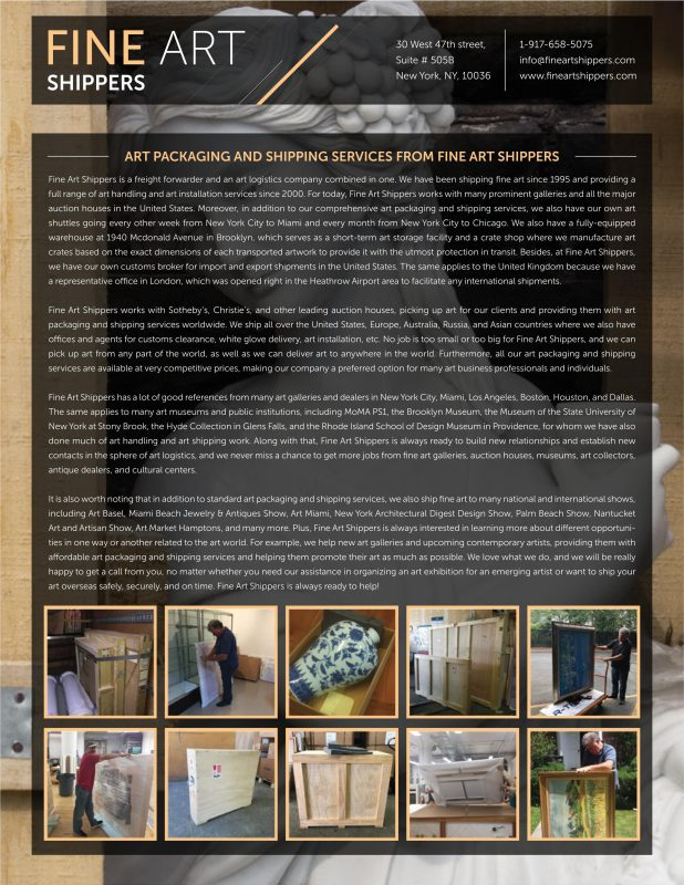 Services from Fine Art Shippers