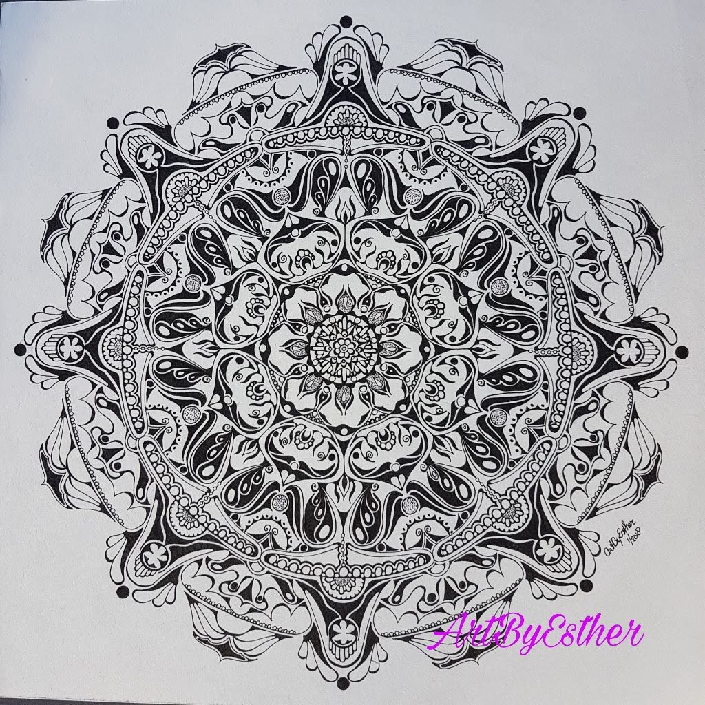 Mandala Art by Esther van der Graaf