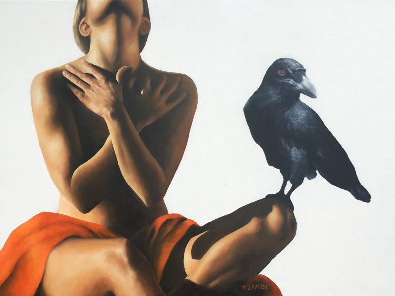 "Trisha Lambi's Oil Painting ""Nevermore"""