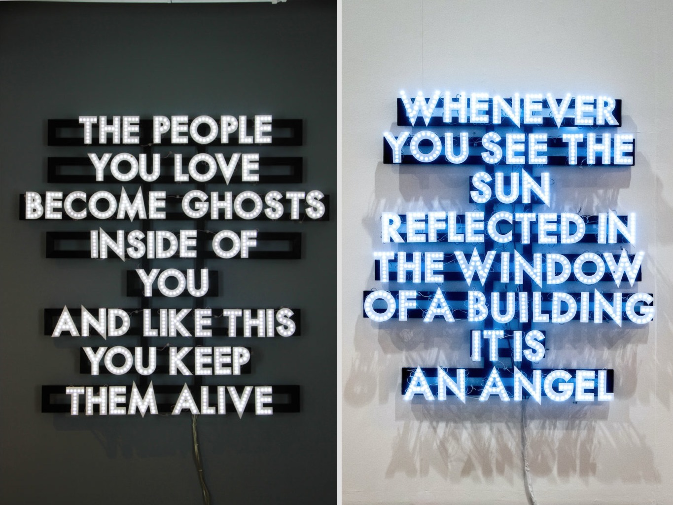Robert Montgomery at JD Malat Gallery in London