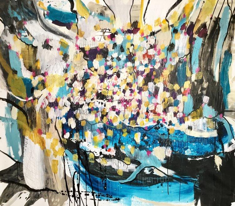 Susana Aldanondo: NYC Artist Painting under the Rain