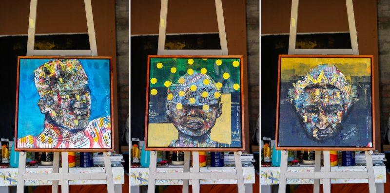Unique Mixed Media Art of Buhle Nkalashe
