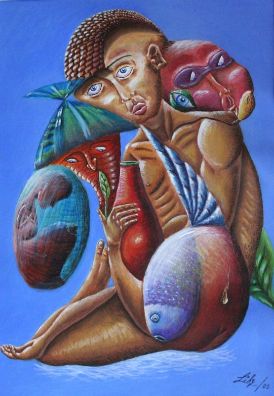 Colorful Original Art by the Cuban Artist Lilivet Peña Echemendía