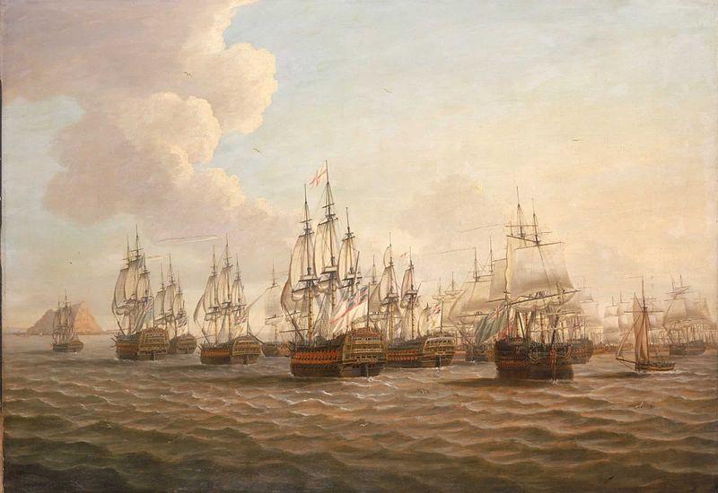 Rodney's Fleet Taking in Prizes After the Moonlight Battle