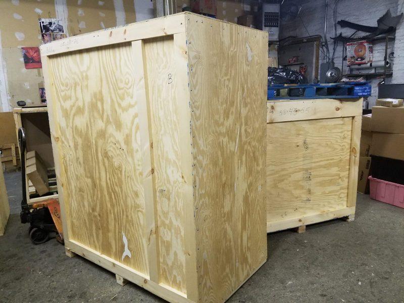 Custom wooden art crate