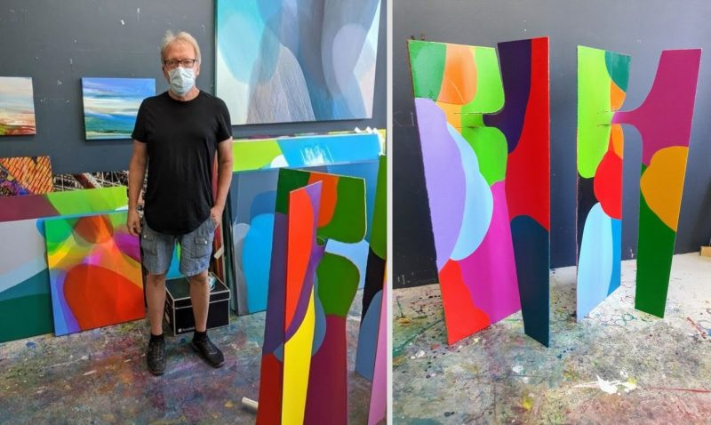 Multilayered Abstract Paintings by William Engel