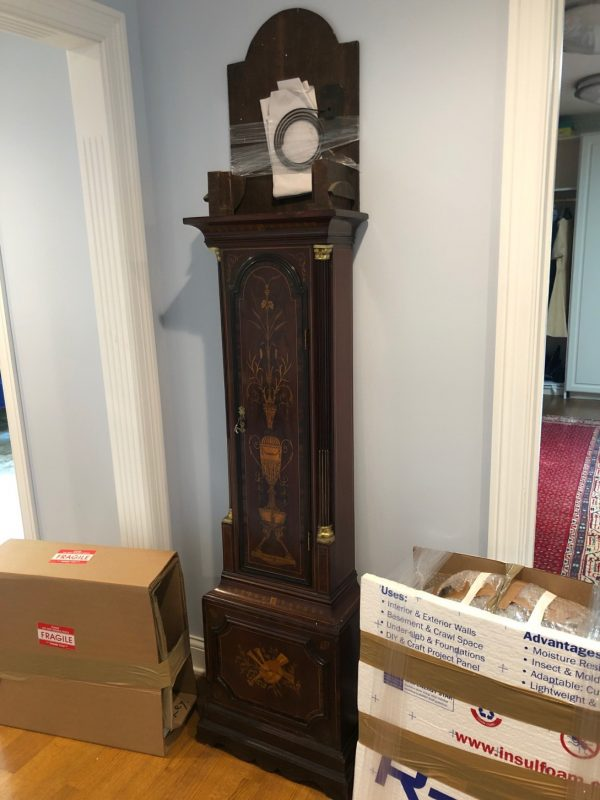 Grandfather clock shipping