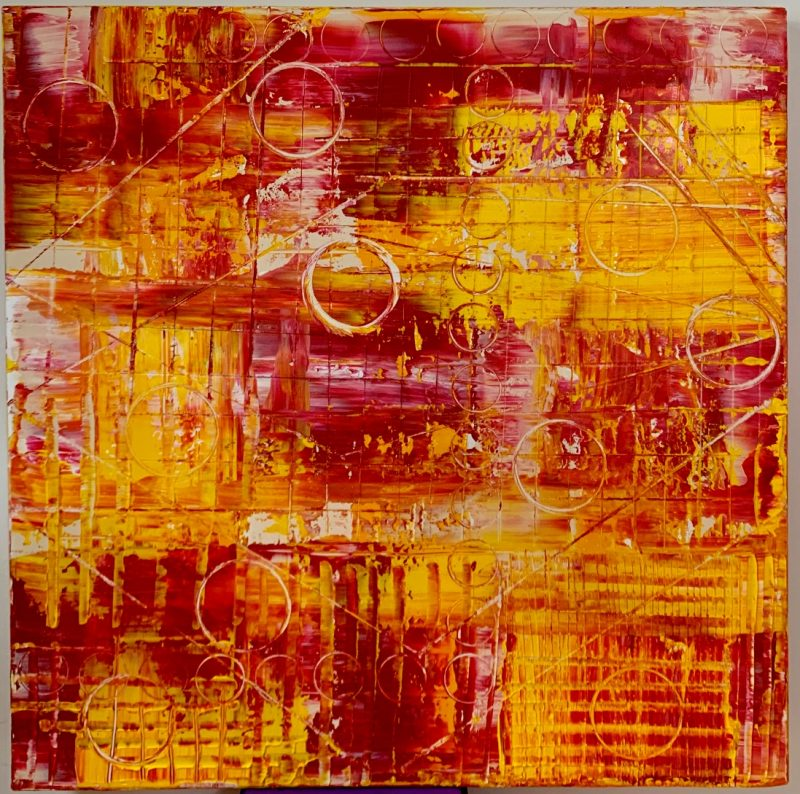 Claxon Du Soleil: Colorful & Dynamic Abstract Art by Tony Seker