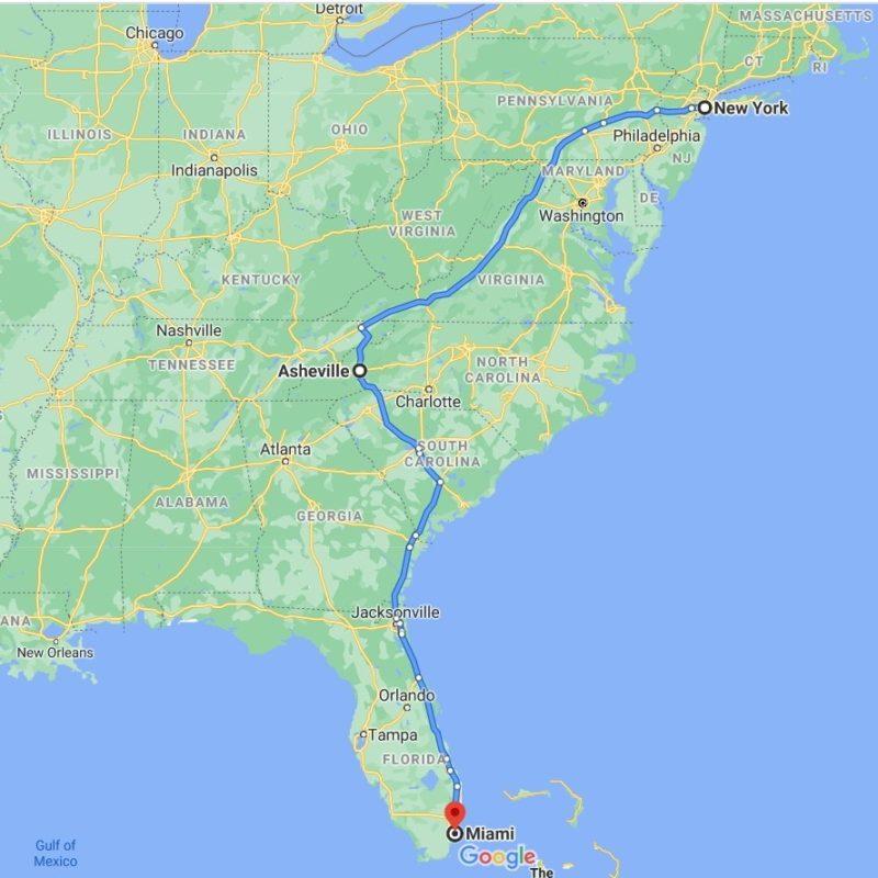 Art Shuttle New York – Asheville – Miami Is Leaving on November 10