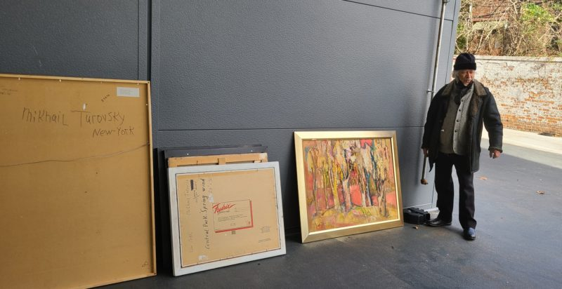 Shipping Paintings for the Amazing Artist Mikhail Turovsky
