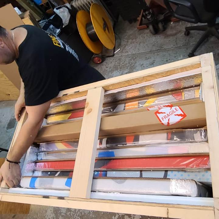 How to Ship Multiple Paintings Overseas