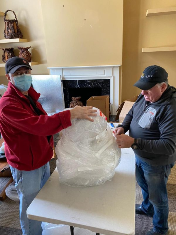 Packing and moving glass items