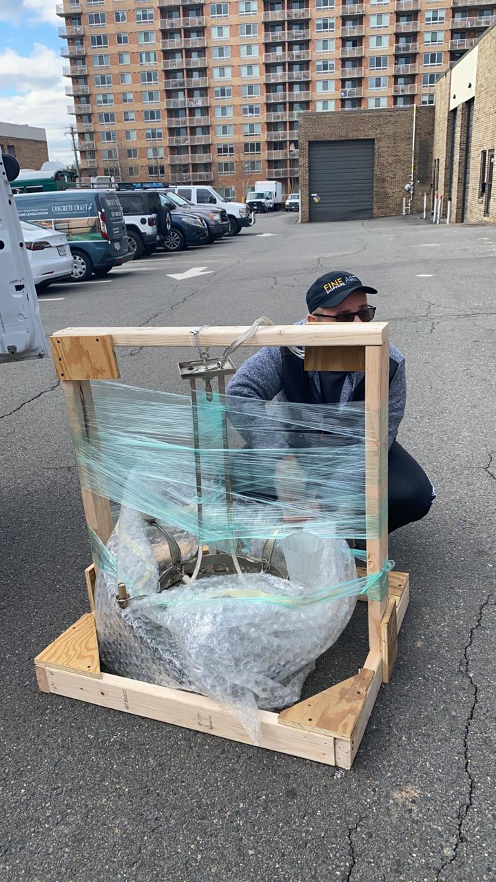 Packing and Shipping a Chandelier