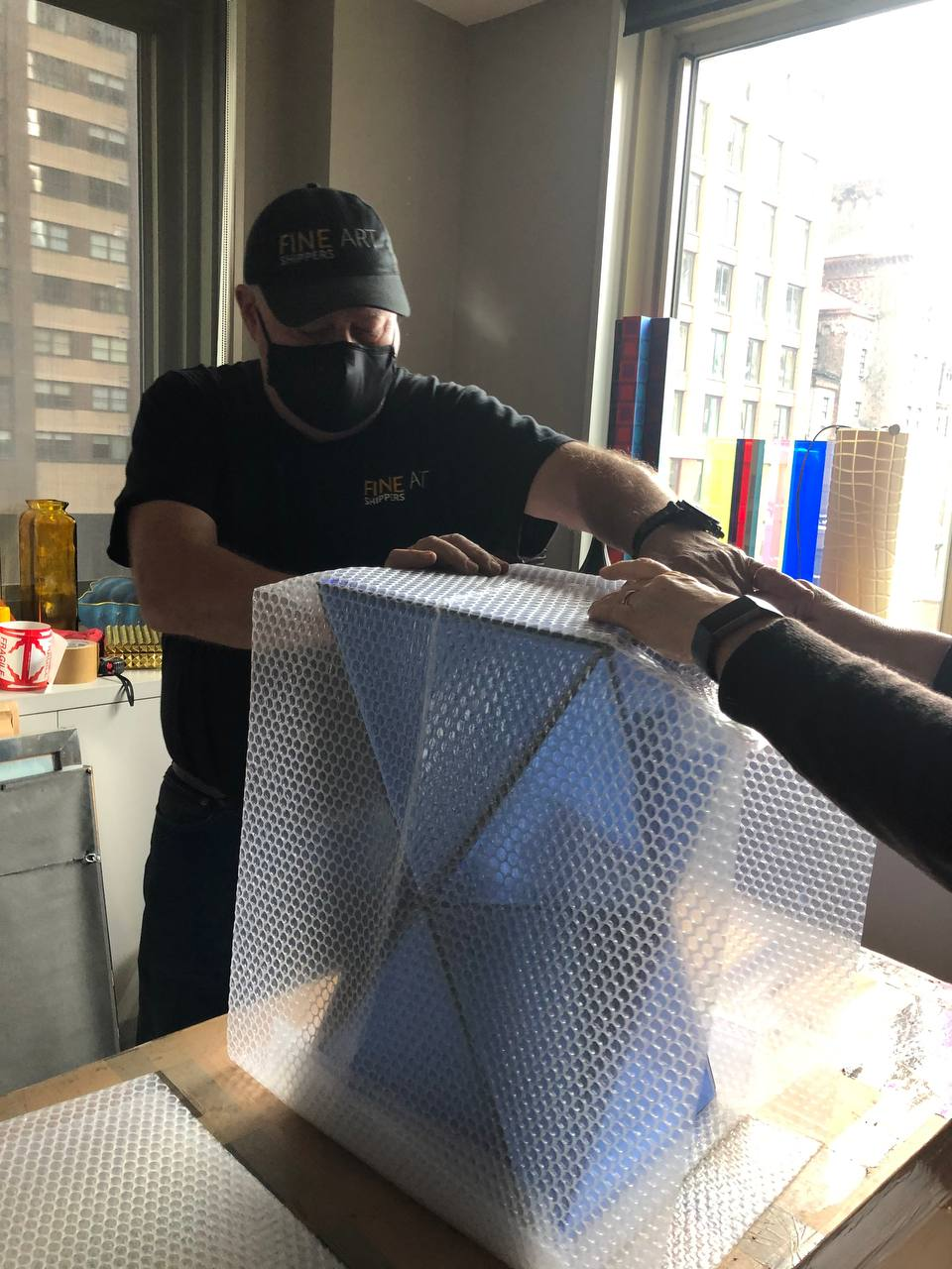 Packing and shipping glass art