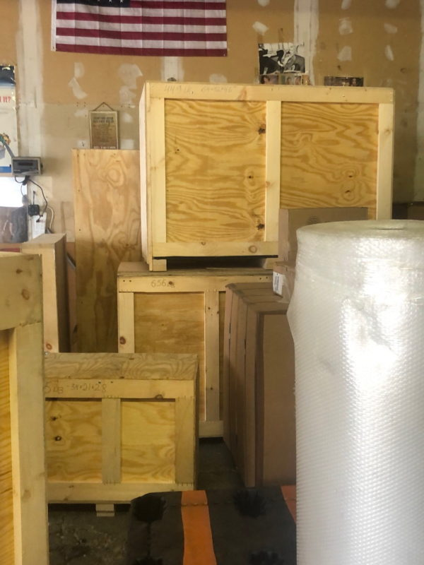 Professional art crating services in New York