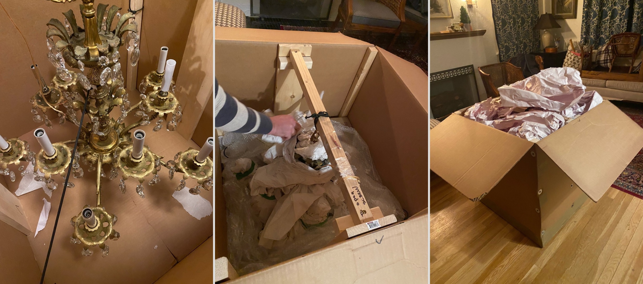 How to Ship a Chandelier from New York to New Mexico?