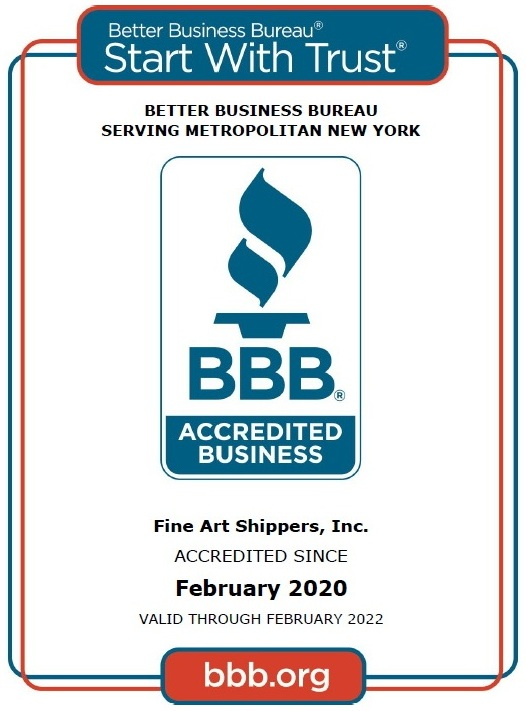 Fine Art Shippers – US Art Shipping Company Accredited by BBB