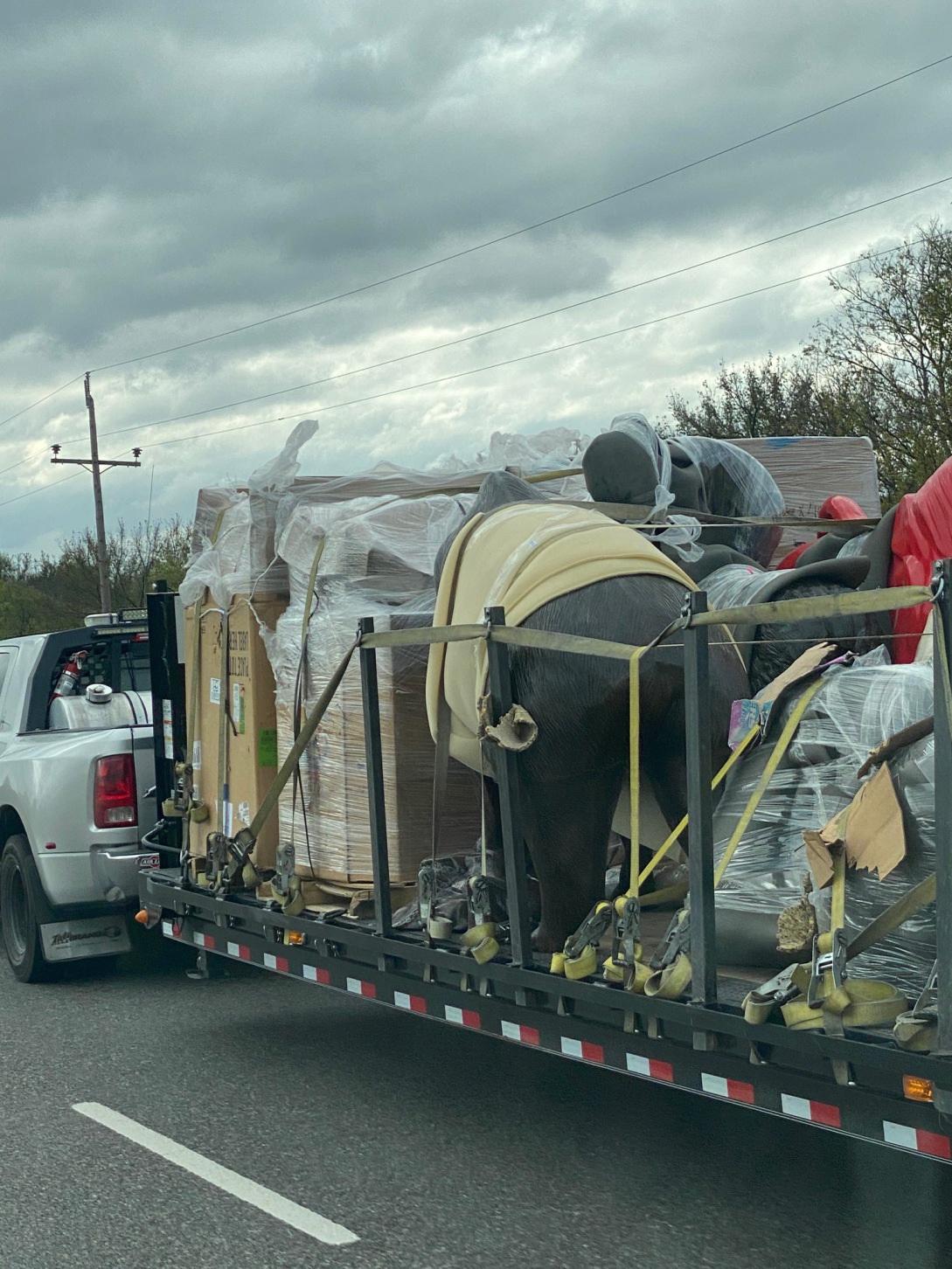 Shipping sculptures interstate