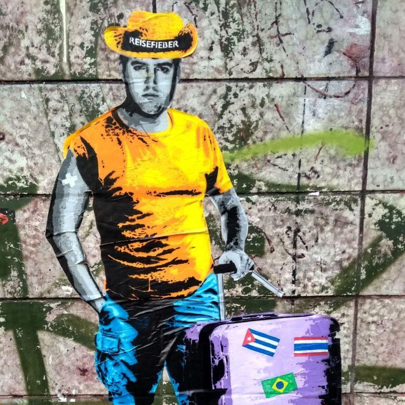 Reisefieber: New Intervention by the Street Artist LAPIZ