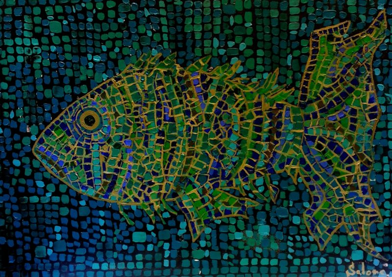 Oil Mosaic Paintings by Salome Chelidze