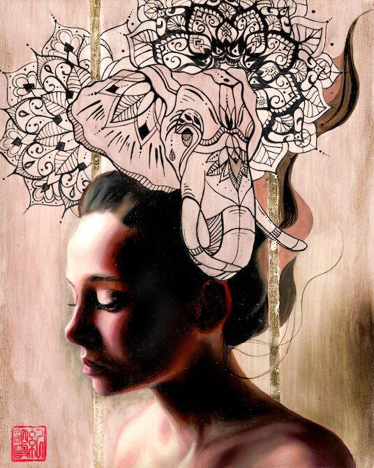 Portrait Paintings by Mandie Keay