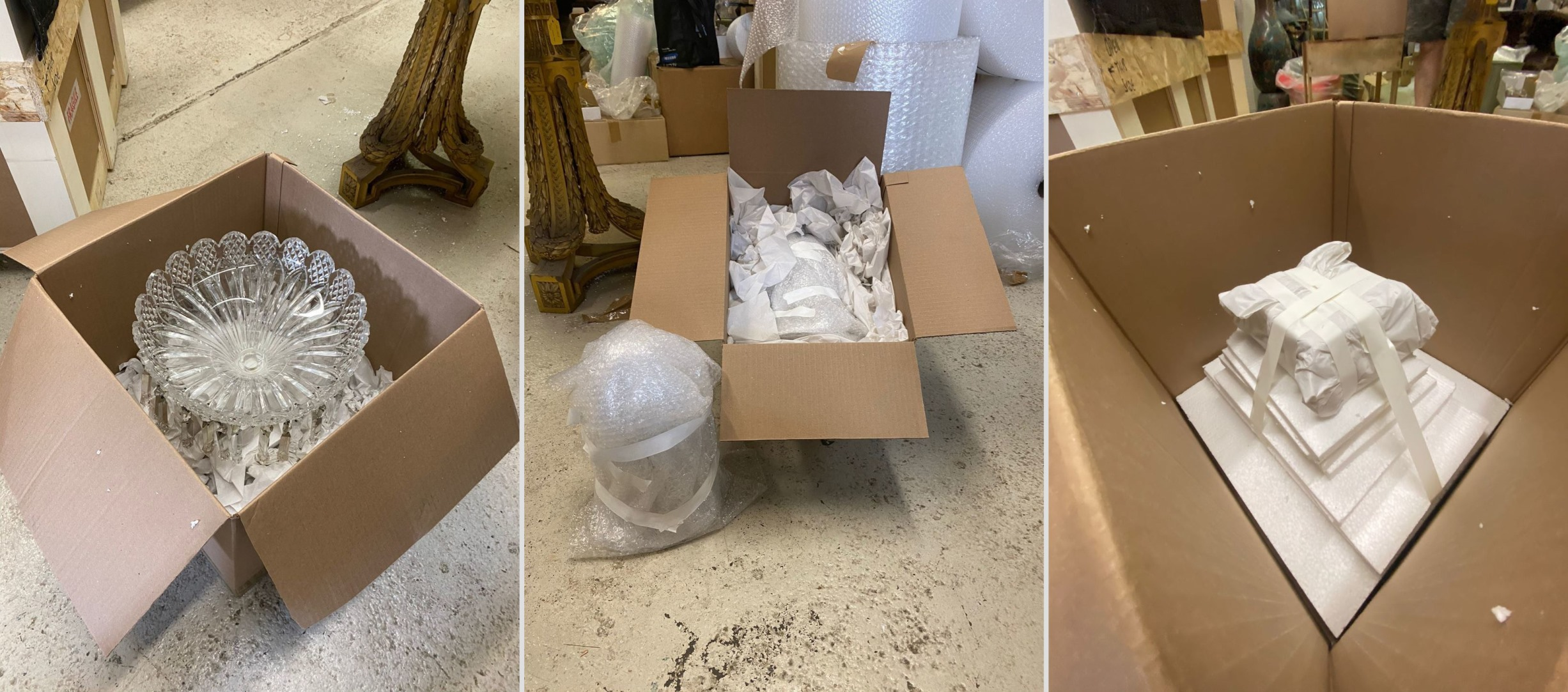 Best Way to Ship Glass & Crystal Chandeliers