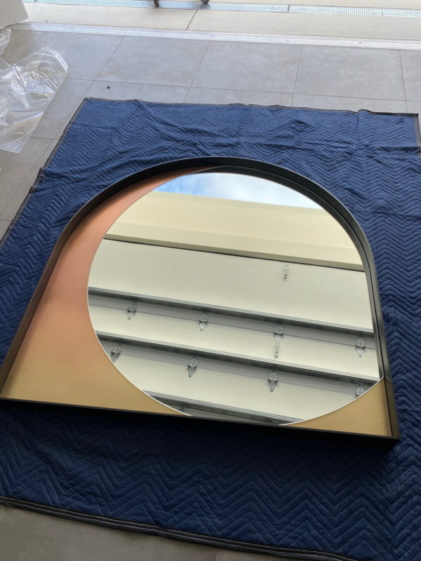 Packing and crating a large mirror for shipping interstate