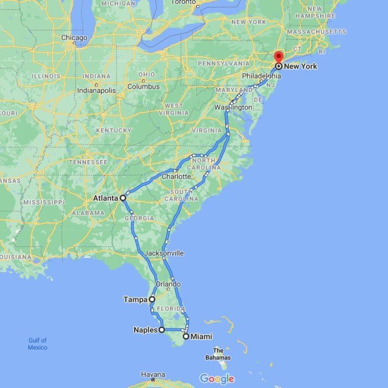 Art Shuttle New York – Florida – New York