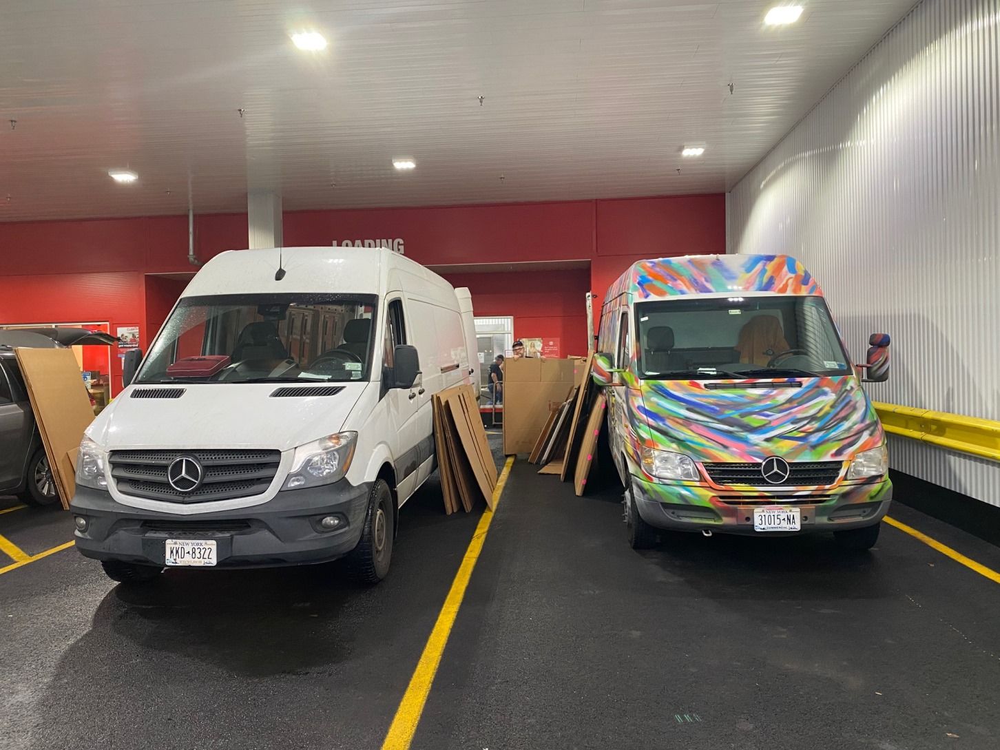 US Art Shipping Services in Mitchell Schorr Style