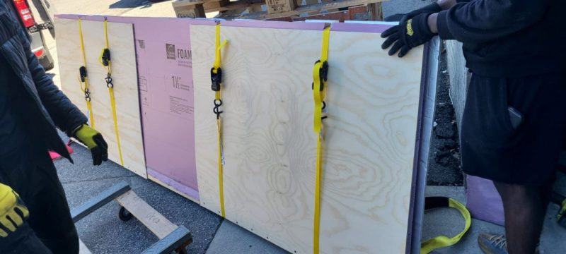 Shipping marble artwork