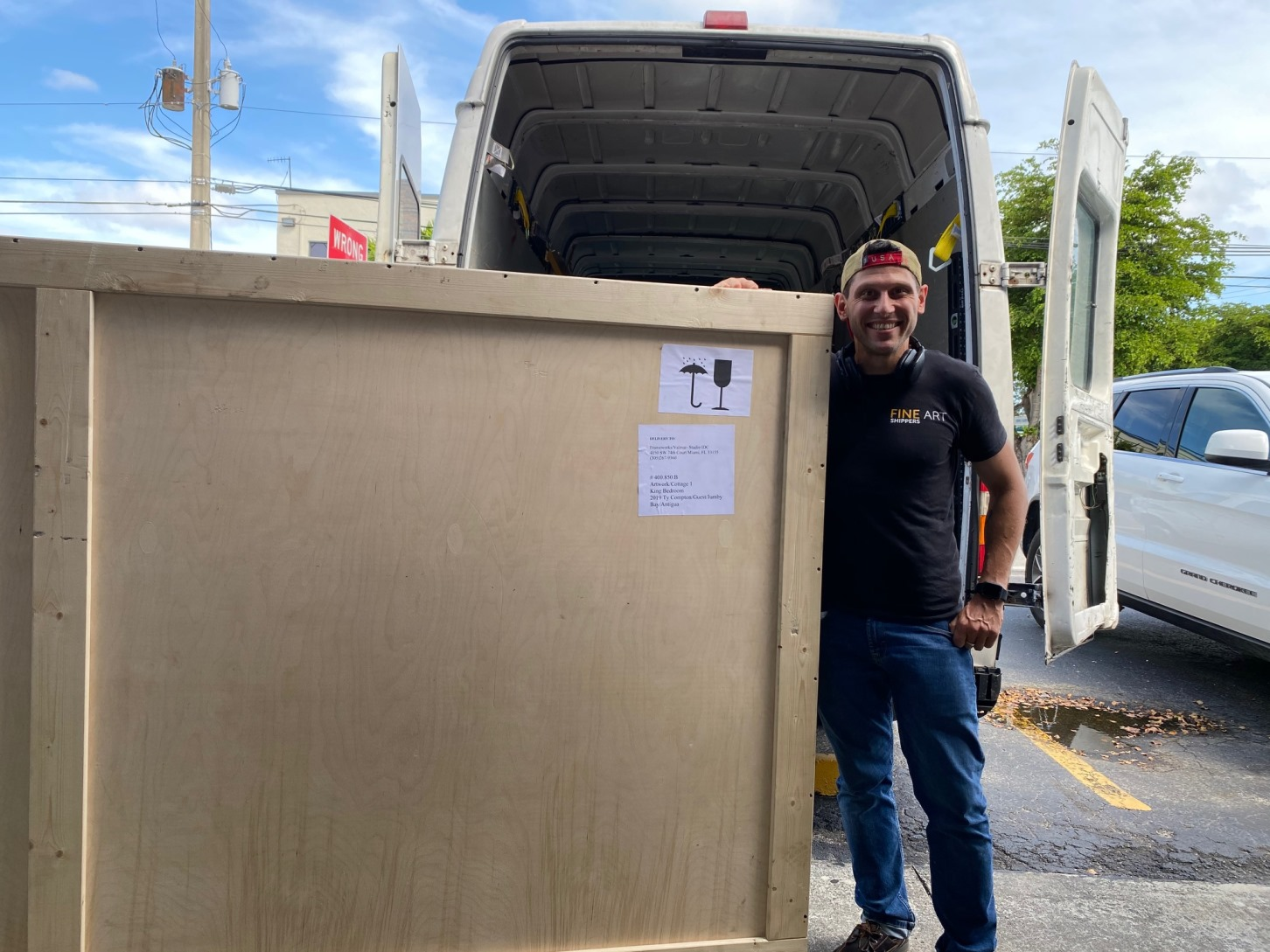 White Glove Delivery of Fine Art to FrameWorks in Miami