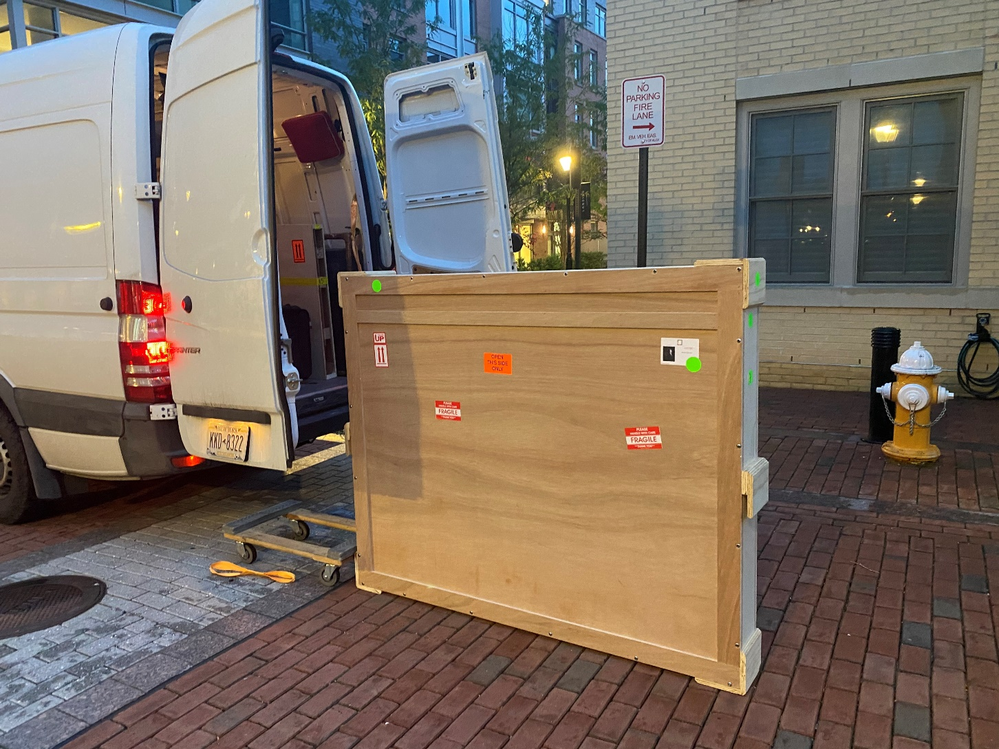 Packing and shipping fine art