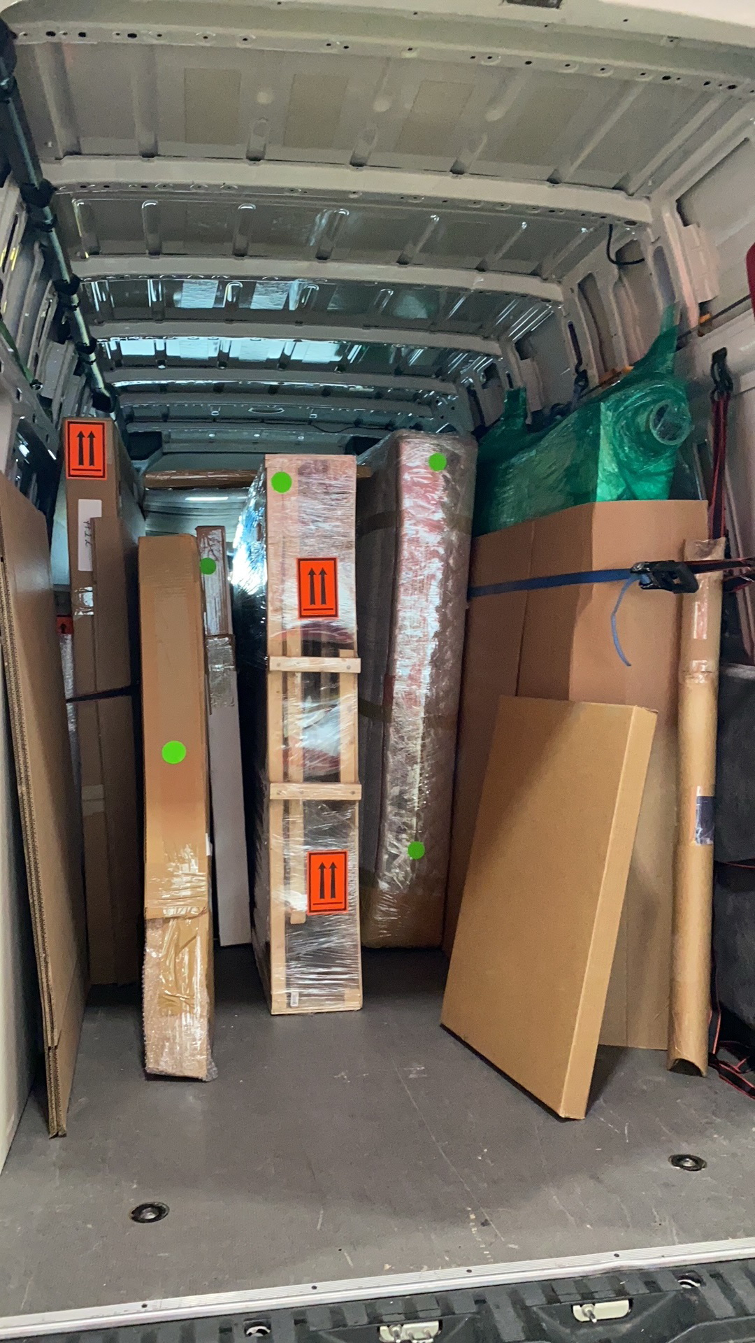 Art packing and art shuttle services from New York to California